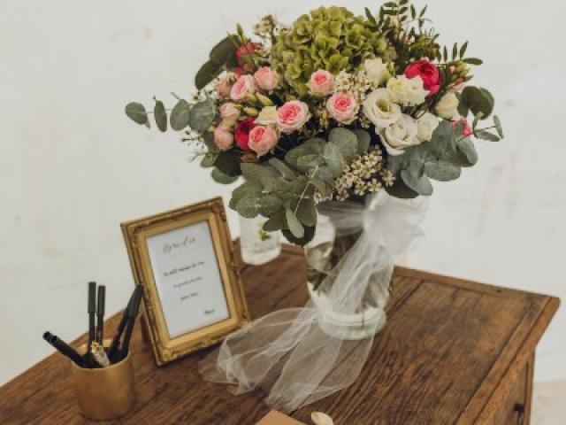 Réalisation florale du mariage de A&R à Saint André de la Roche