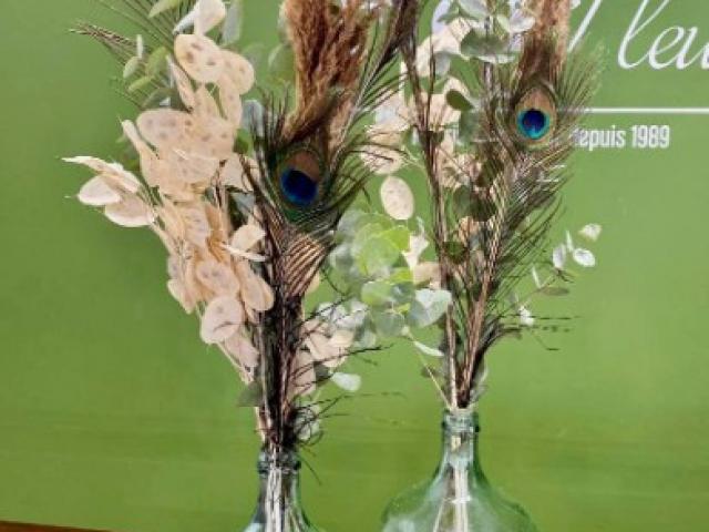 Dame Jeanne de fleurs séchées