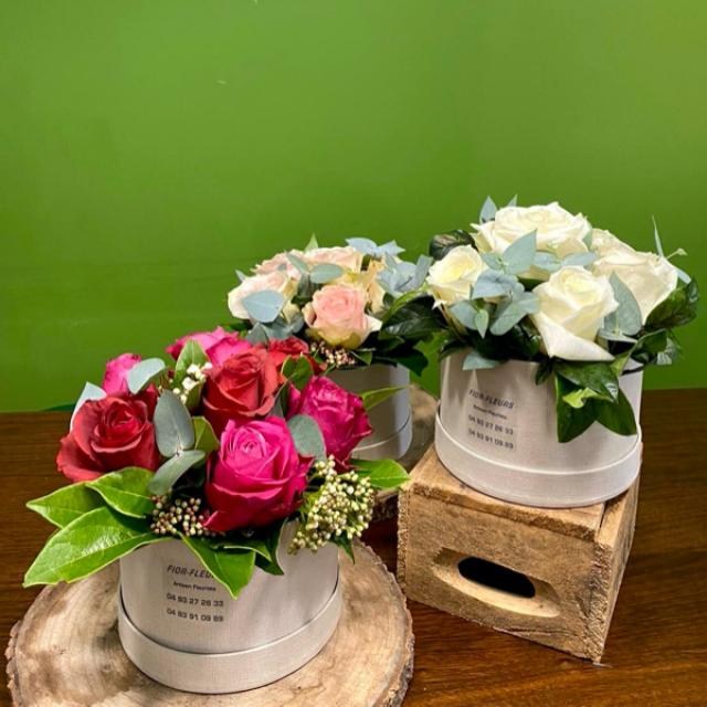 Pavés de roses fraiches